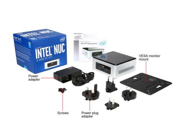 کامپیوتر کوچک اینتل ناک NUC5CPYH - محتویات جعبه