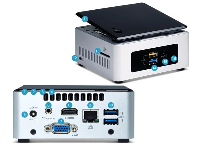 کامپیوتر کوچک اینتل ناک NUC5CPYH - مشخصات