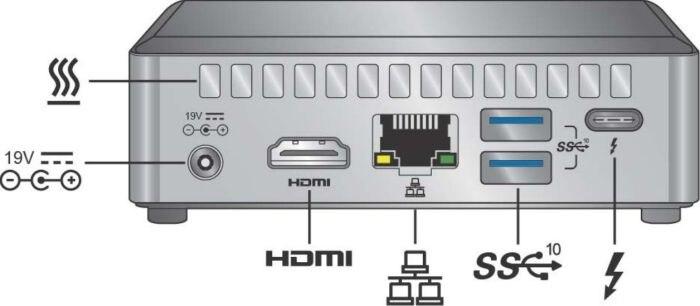 کامپیوتر کوچک نیمه آماده اینتل NUC8i3BEK