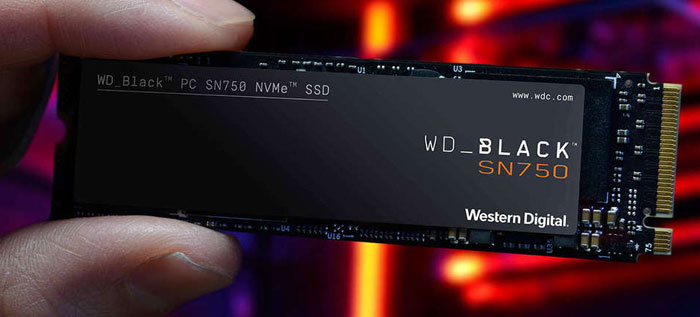 اساسدی وسترن دیجیتال BLACK SN750 NVME 250GB WDS250G3X0C