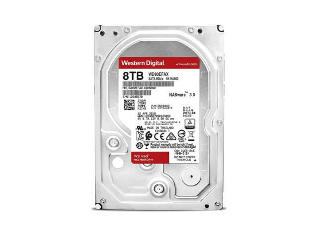 هارد دیسک اینترنال وسترن دیجیتال RED NAS  8TB WD80EFAX