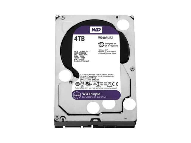 هارد دیسک اینترنال وسترن دیجیتال PURPLE SURVEILLANCE  4TB WD40PURZ