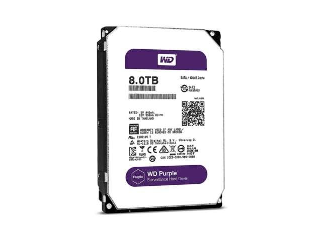 هارد دیسک اینترنال وسترن دیجیتال PURPLE SURVEILLANCE  8TB WD80PURZ