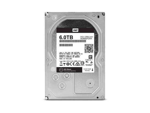 هارد دیسک اینترنال وسترن دیجیتال BLACK PERFORMANCE DESKTOP 128MB 6TB WD6002FZWX
