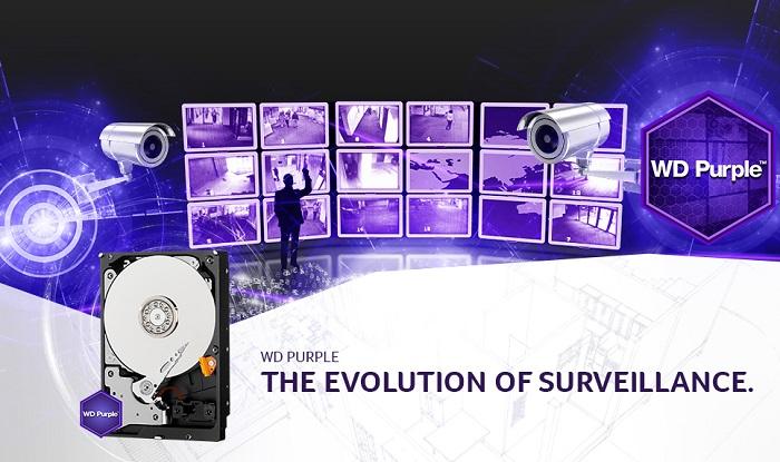 هارد دیسک اینترنال وسترن دیجیتال PURPLE SURVEILLANCE 6TB WD60PURZ