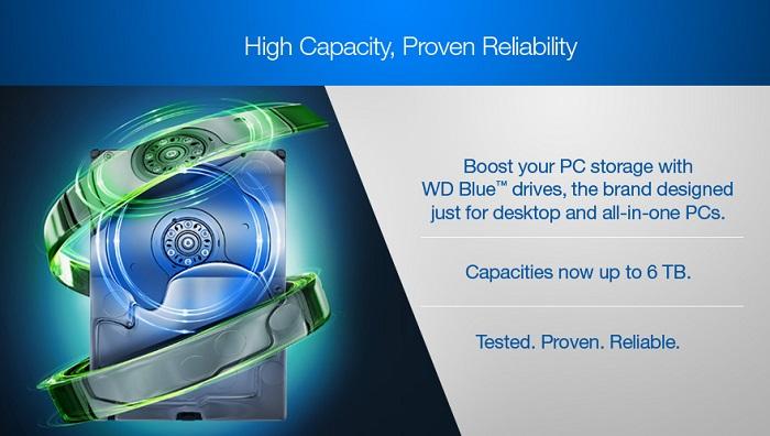 هارد دیسک اینترنال وسترن دیجیتال BLUE PC DESKTOP 5400RPM 500GB WD5000AZRZ