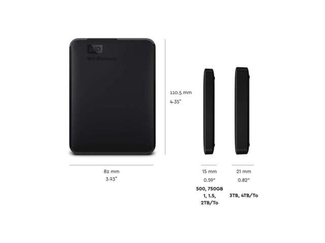 ذخیره ساز اکسترنال وسترن دیجیتال Elements Portable 1TB WDBUZG0010BBK-NESN