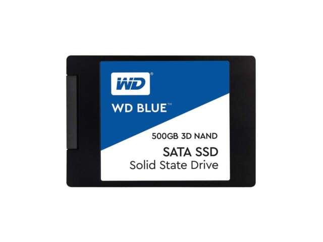 """اساسدی وسترن دیجیتال BLUE 3D NAND SATA 500GB 2.5"""" 7mm WDS500G2B0A"""