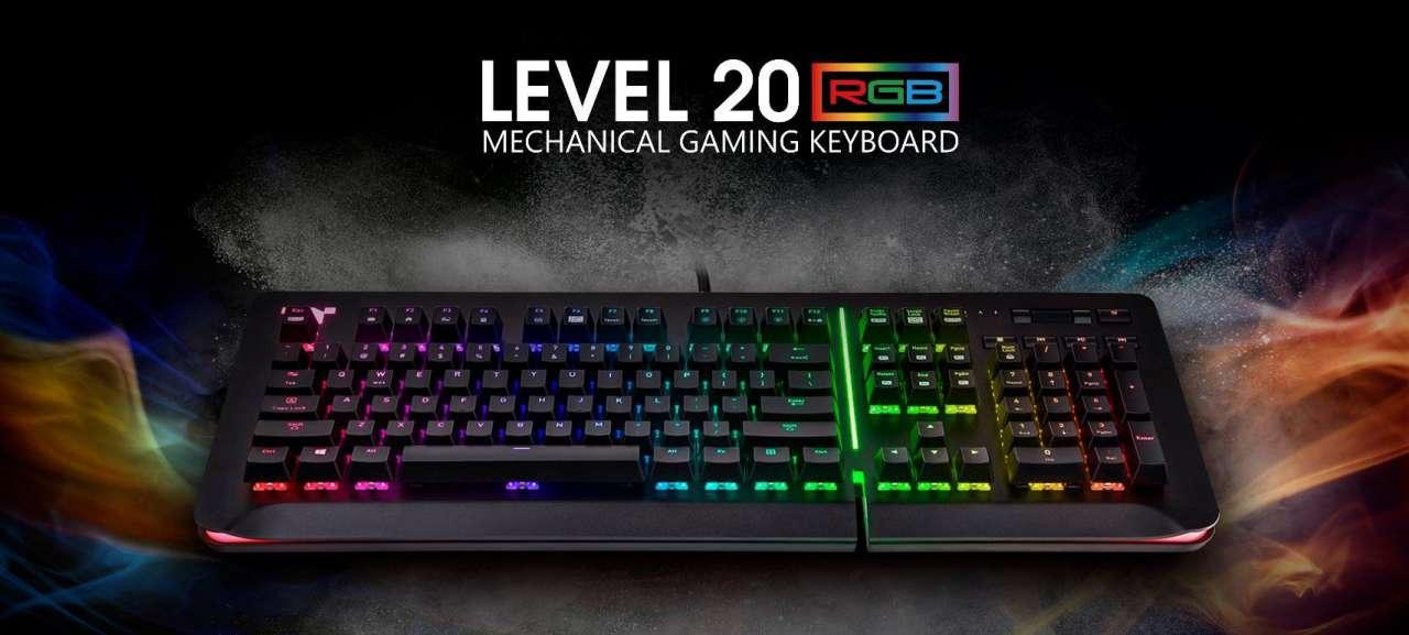 ترمالتیک از کیبورد گیمینگ Level 20 RGB Razer Green خود رونمایی کرد