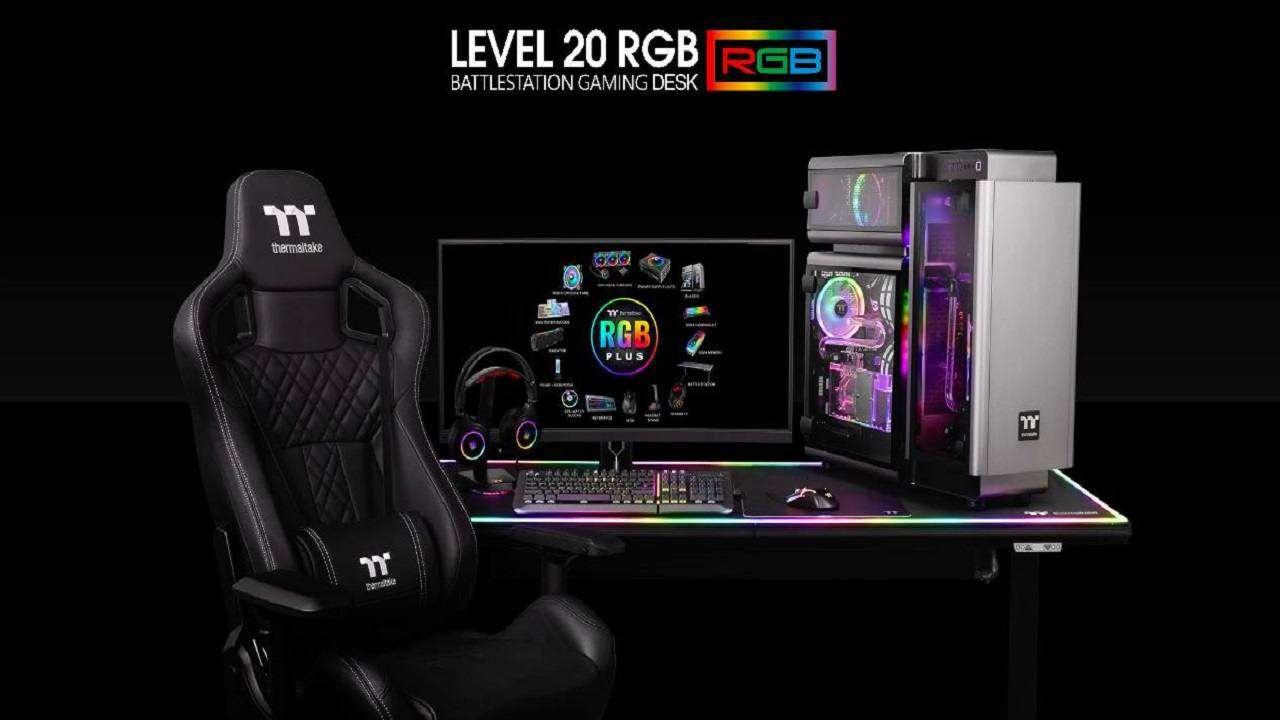 ترمالتیک از میز گیمینگ Level 20 RGB Battlestation خود رونمایی کرد