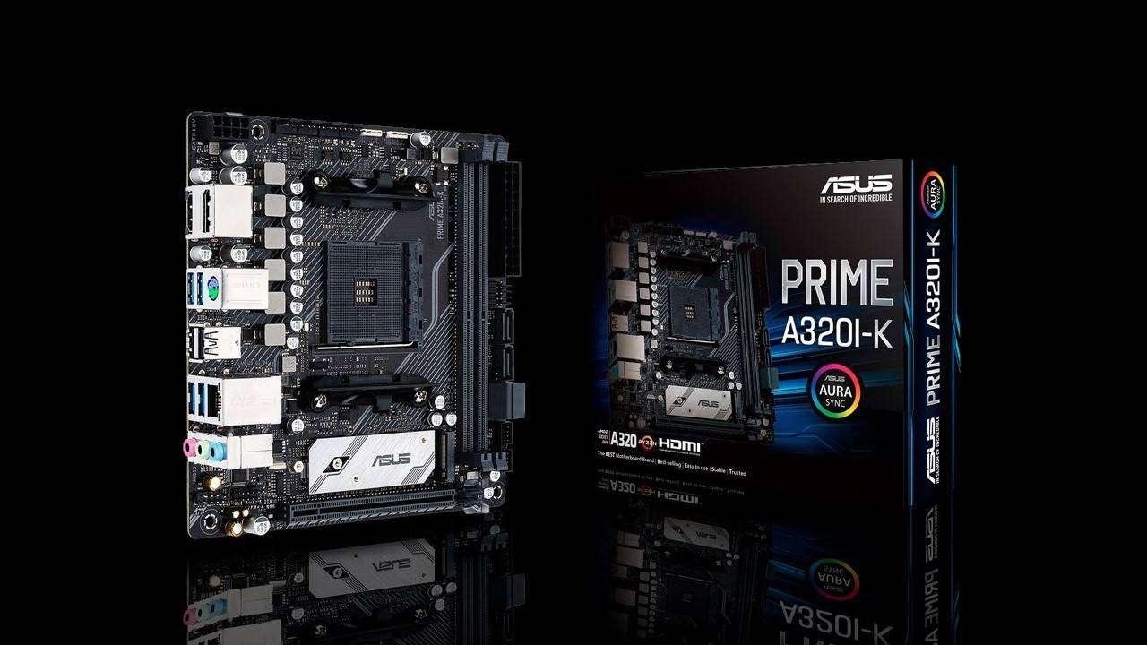 ایسوس مادربرد Prime A320I-K در فرم فاکتور Mini-ITX را عرضه میکند