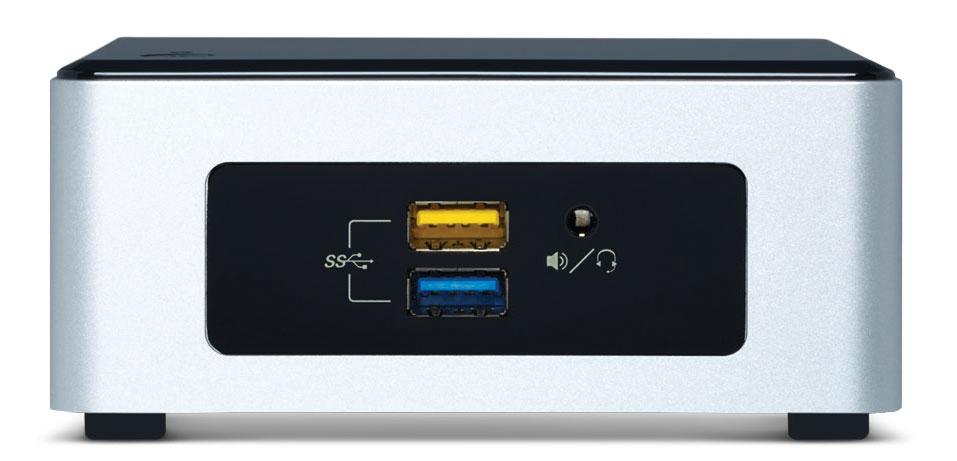کامپیوتر کوچک اینتل ناک NUC5PPYH - نمای جلو