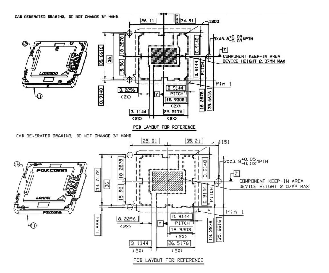 کولرهای پردازنده سوکتهای LGA115x سازگار با LGA1200 نیز میباشند