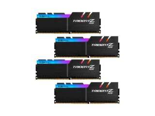 رم دسکتاپ DDR4 چهار کاناله 2400 مگاهرتز CL15 جیاسکیل مدل TridentZ RGB ظرفیت 64 گیگابایت (4x16GB)