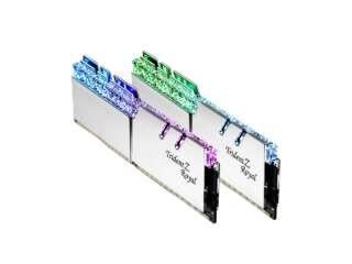 رم دسکتاپ DDR4 دو کاناله 3200 مگاهرتز CL14 جیاسکیل مدل TridentZ Royal Silver RGB ظرفیت 32 گیگابایت