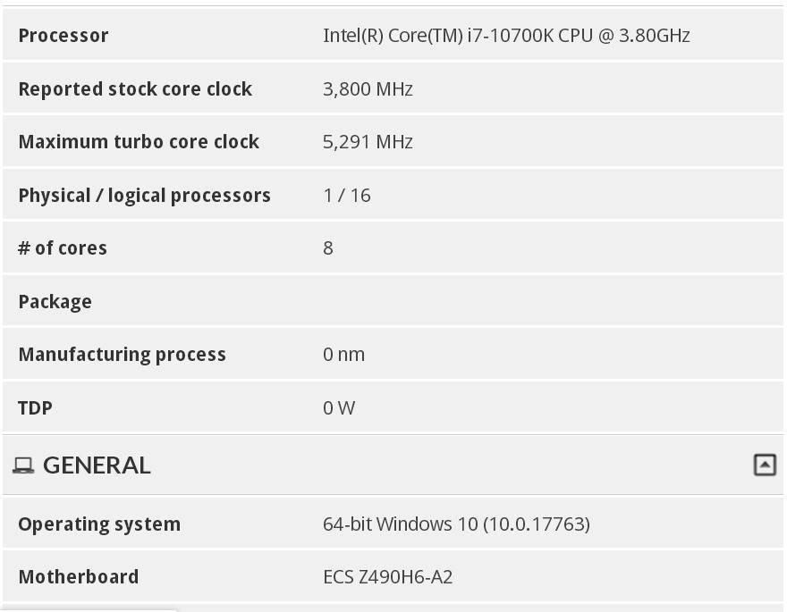پردازنده Core i7-10700K اینتل از فرکانس توربو 5.30 گیگاهرتزی بهره میبرد