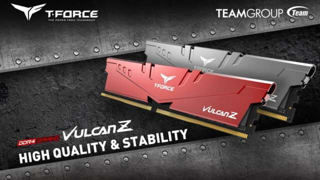 رونمایی تیم گروپ از ماژولهای 32 گیگابایتی T-FORCE VULCAN Z و DARK Z