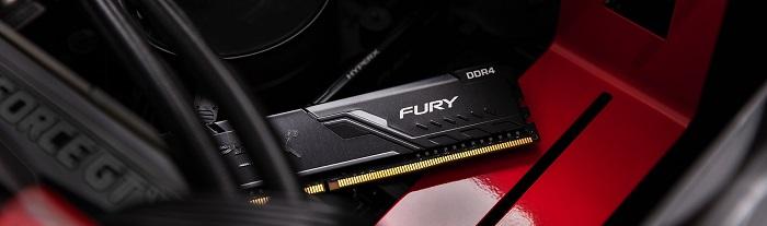 رم کامپیوتر کینگستون مدل HyperX Fury DDR4 2666MHz CL16 ظرفیت 8 گیگابایت