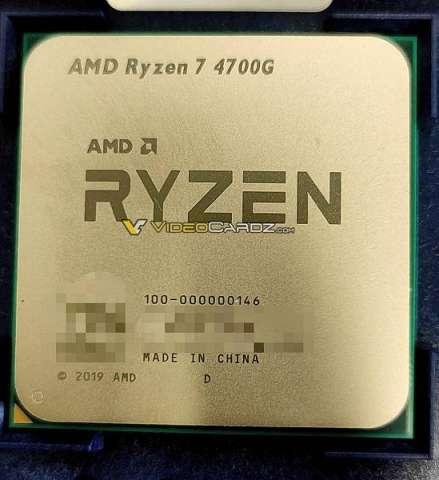 تصویری از پردازنده دسکتاپ AMD Ryzen 7 4700G رویت شد